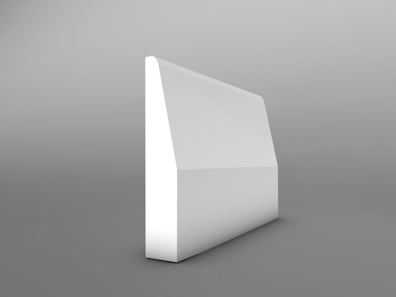Rounded Chamfer MDF 5 90   Skirting Board. differant shapes of skirting boards   Skirting Boards   Skirtech